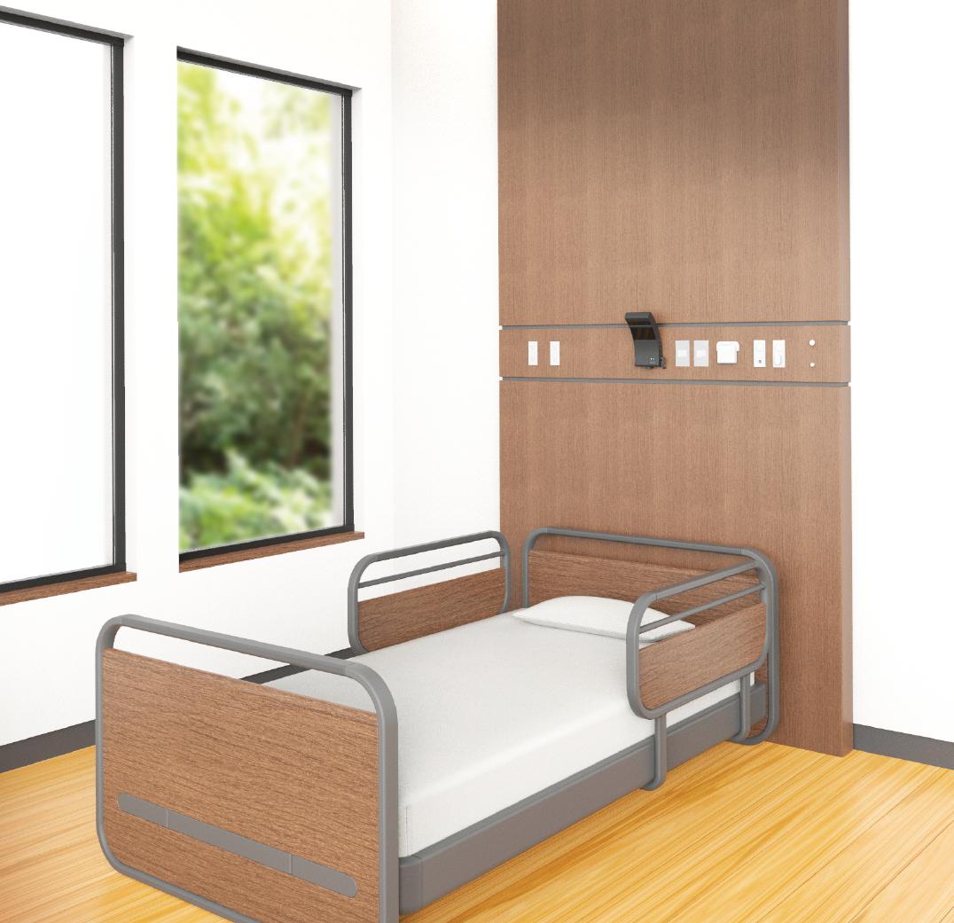 起床離床センサーmittell【ミッテル】の病室への設置イメージ